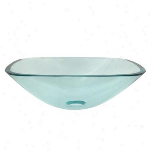 Kingston Assurance Evsqcc4 Templeton 1/2 Intimate Square Temper Glazs Sink Clear