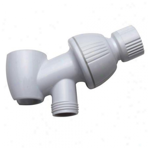 iKnbston Assurance K170w1 Plumbing Parts Shower Arm Bracket, White