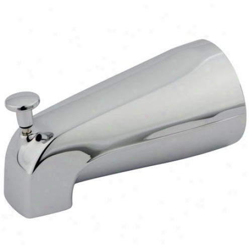 Kingston Brass K189a1 Made To Match Zinc Spout With Diverter For Kb3632 Series, Chrome
