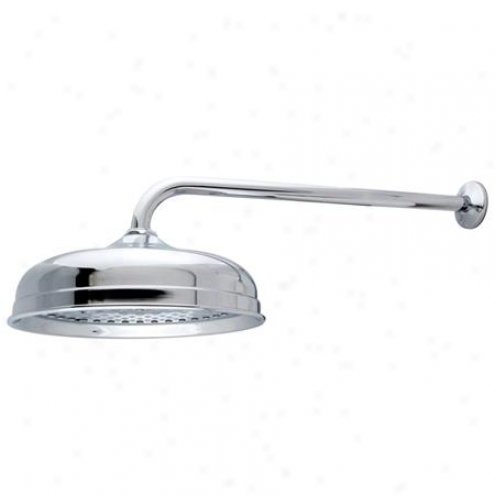 Kingston Brass K225k11 Victorian 10 Shower Head Through  17 Rain Drop Shower Arm, Chrome
