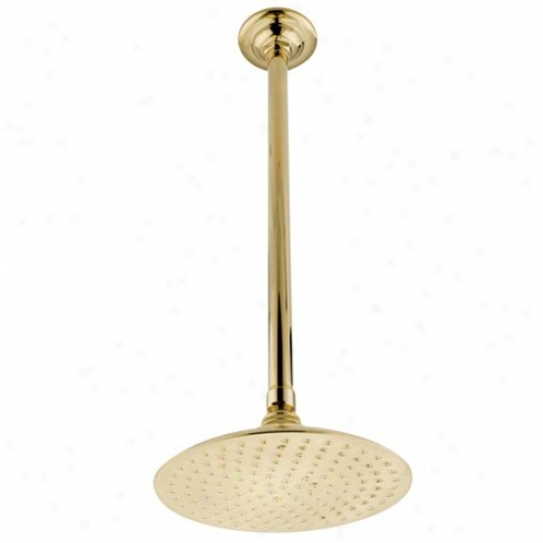Kingston Brass K236k22 Vcotorian 8 Shower Head With 17 Ceiling Support, Polished Brass