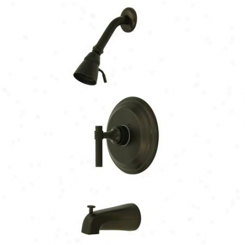 Kingston Brass Kb2635ml Milano Pressure Balanced Tub/shower Faucwt With Solid Brass Shower Head, Oil