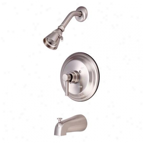 Kingston Brass Kb2638dl Consonance Tub/shower Faucet, Satin Nickel