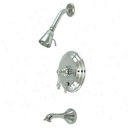 Kingston Brass Kb36310al Restoration Pressure Balanced Tub/shower Faucet Upon Dense Brass Shower Hea