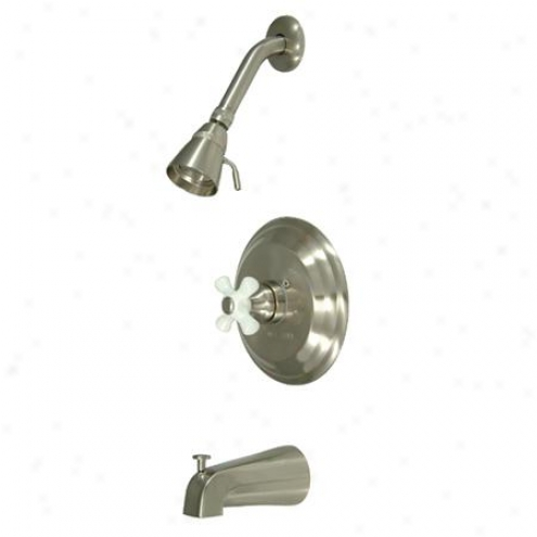 Kingsyon Brass Kb3638px Restoration Pressure Balanced Tub/shower Faucet With Solid Brass Shower Head