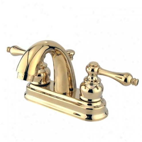 Kingston Brass Kb5612al Restoration 4 Centerset Bathroom Faucet, Polished Brass