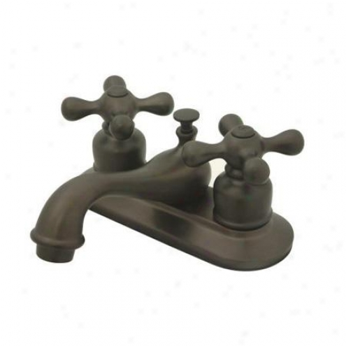 Kingston Brass Kb605ax Restoration Teapot 4 Centerset Faucet With Brass Pop-up, Oil Rubbed Bronze