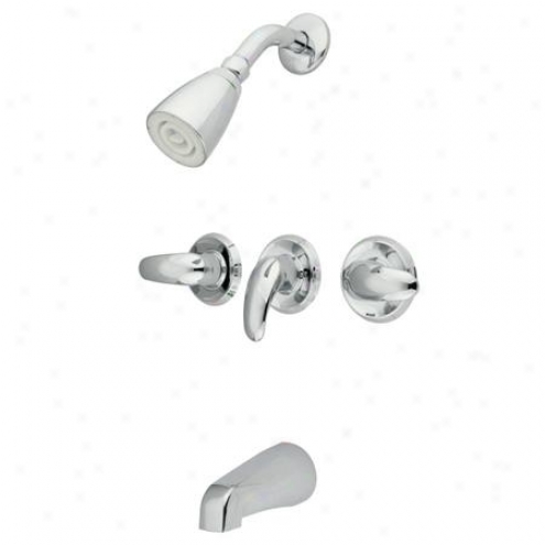 Kibgston Brass Kb6231ll Bequest Tub And Shower Faucet, Chrome