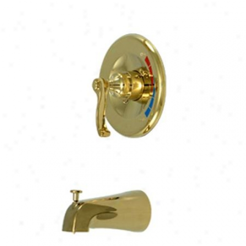 Kingston Brass Kb8632flto Royale Tub/shower Faucet Pressure Balanced, Polished Brass