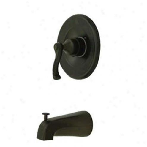 Kingston Brass Kb8635flto Royale Tub/shower Faucet Pressure Balanced, Oil Rubbed Bronze
