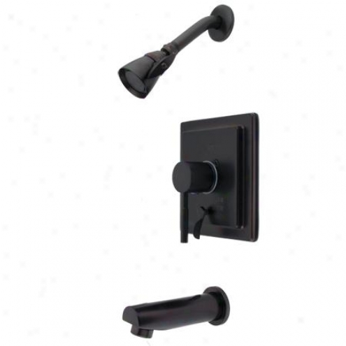 Kingston Brass Kb86550dl Concord Tub/shower Faucet With  Diverter, Oil Rubbed Bronze