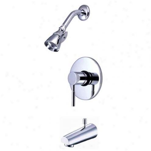 Kingston Brass Kb8691dl Consonance Tub/shower Faucet Pressure Balanced, Chrome