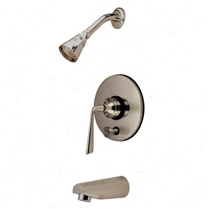 Kingstoh Brass Kb86980zl Silver Sage Ada Tub & Shower Faucet, Satin Nickel