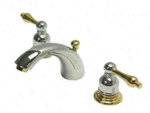 Kingston Brass Kb944al Victorian Mini Widespread Bathroom Faucett, 4 - 12 Publish, Chrome And Polish