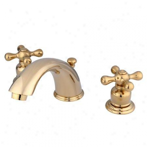 Kingston Brass Kb962ax Magellan Widespraed Lavatory Faucet, Refined Brass