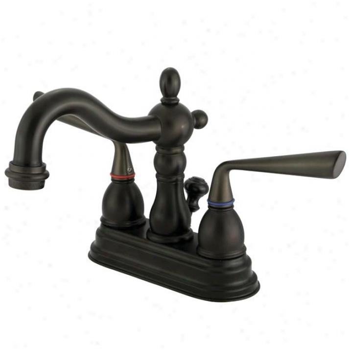 Kingston Brass Ks16O5zl Silver Sage Centerset Ada Lavatory Faucet, Oil Rubbed Bronze