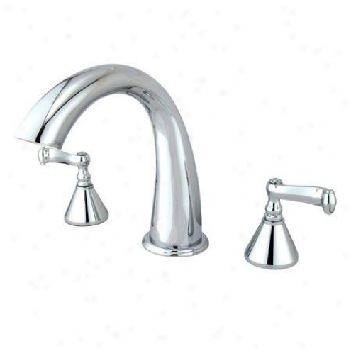 Kingston Barss Ks2361fl Roman Tub Filler With French Lever Touch, Chrome