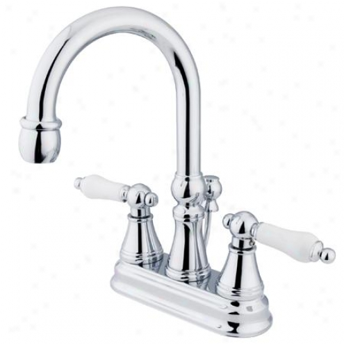 Kingston Brass Ks6211pl Governor Centerset Bathroom Faucet, 5 Spout Reach, Chrome