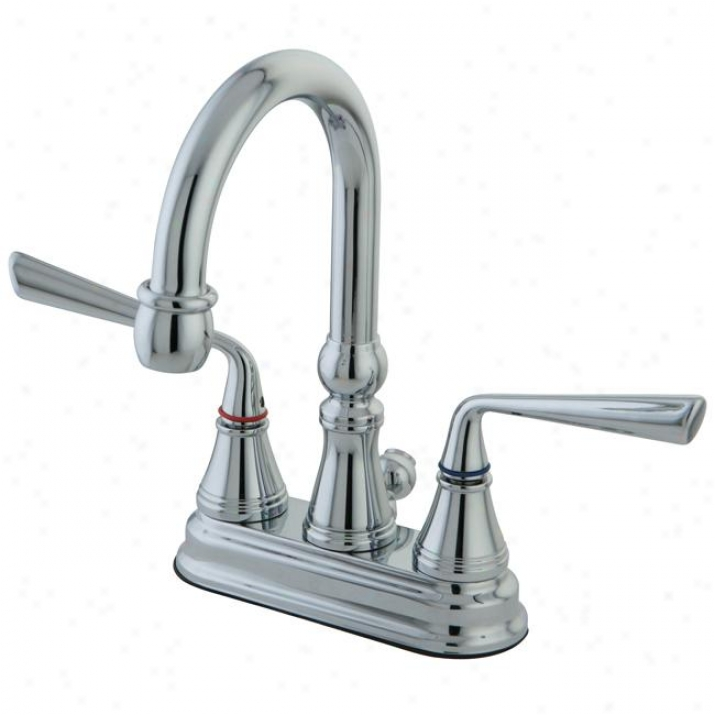 Kingston Brass Ks2611zl Silver Sage 4 Ada Lavatory Faucet, Polished Crhome