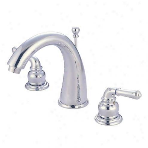 Kingaton Brass Ks2961 Naples Widespread Bathroom Faucet, 8 - 16 Centers, 7 Spout Reach, Chrome