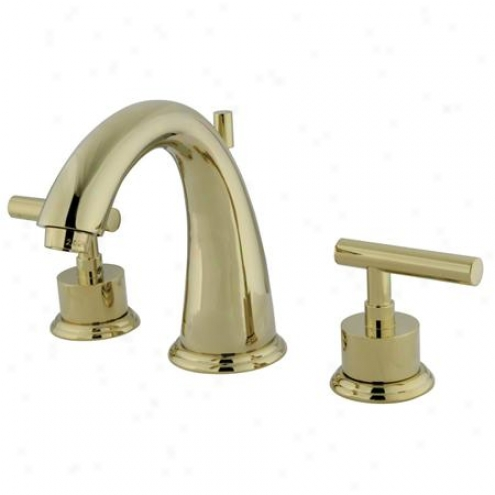 Kingston Assurance Ks2962cml Manhattan Two Handle Widespread Lavatory Faucef With Brass Pop-up, 7 Spout