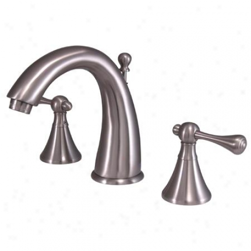 Kingston Brass Ks2978bl English Country Widdespread Lavatory Faucet, Satin Nickel
