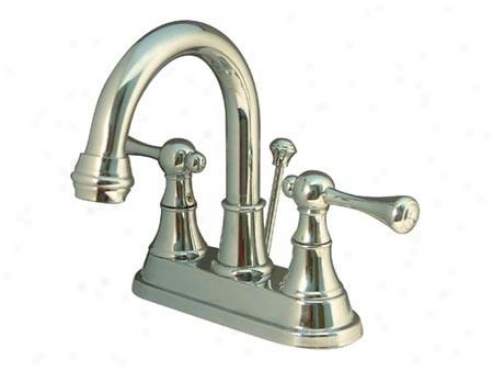 Kingston Brass Ks3665bl English Country 4 Centerset Mono Block Bathroom Faucet, Oil uRbbed Brass