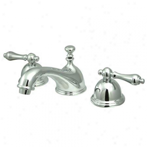 Kingston Brass Ks3961al Restoration Widespread Bathroom Faucet, 8 - 16 Spread, Chroms