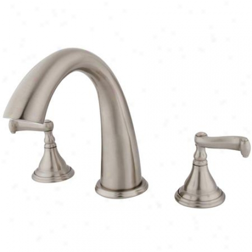 Kingston Brass Ks5368fl Royale Roman Tub Filler, 3/4 Hi-flow Cartridge, Satin Nickel