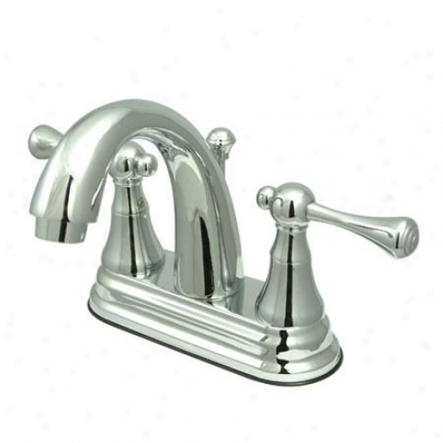 Kingston Assurance Ks7611bl English Vintage 4 Centerset Bathroom Faucet, Chrome