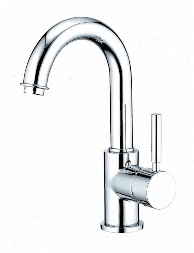 Kingston Brass Ks8431dl Concord 4 Single Deal with Centerset Bathroom Faucet With Push-u Pop-up, Chro