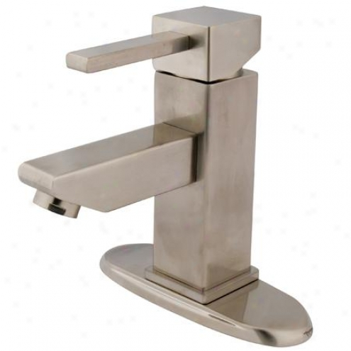 Kingston Brass Ks8448cl Claremont Single Hole Lavatory Faucet With Endeavor Up Drain, Satin Nickel