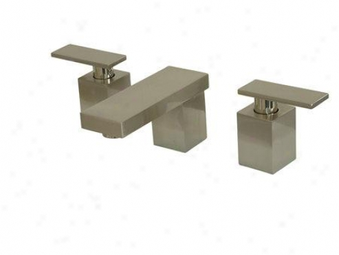 Kingston Brass Ks8868qll Executive Lavatory Faucef With O Pop-up, Satin Nickel