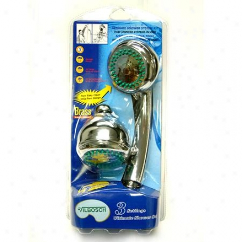 Kingston Brass Kx0132db Barcelona Dual Shower Combo Kit Witu Double Spiral Stainless Steel Hose, Chr