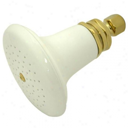 Kingston Brasw P50pb Victorian Ceramic Shower Head, Polished Brass