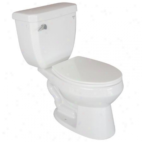 Kingston Brass Vwc2109 Ecokleen Closet - Coupled Elongated Toilet 12 Rough- In, White