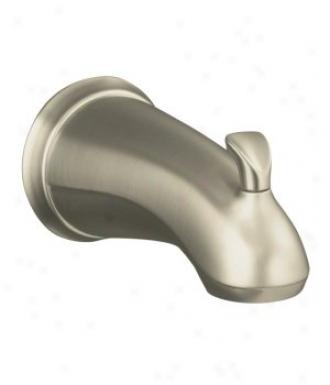 Kohler K-10280-4-bn Forye Sculpted Diverter Tub Spout, Brushed Nickel