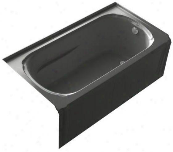 Kohler K-1108-ra-7 Portrait 5' Bath With Integral Apron, Flange And Right-hand Drain, Black