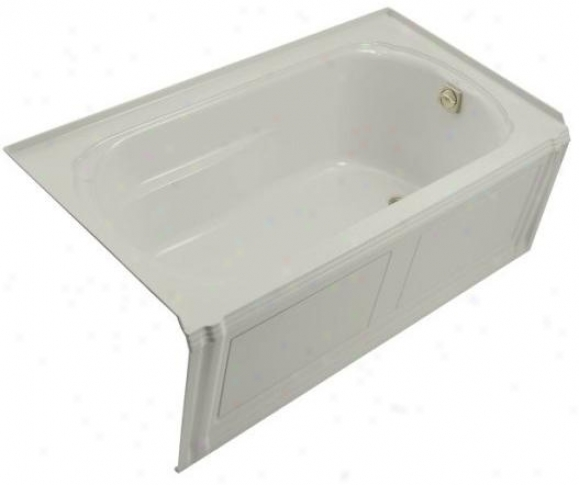 Kphler K-1108-ra-95 Portrait 5' Bath With Integral Apron, Flange And Right-hand Drain, Ice Grey