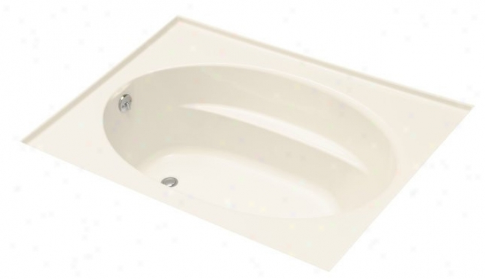 Kohler K-1113-l-47 Windward 5' Bath With Three-sided Itegral Flange And Left-hand Drain, Almond