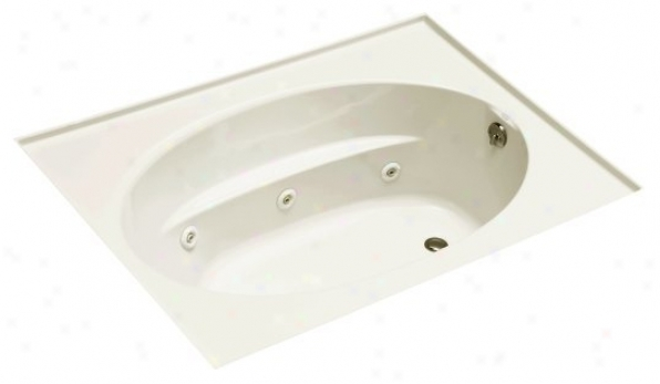 Kohler K-1114-r-96 Windward 6' Whirlpool With Three-side Integral Flange And Right-hand Drain, Biscu