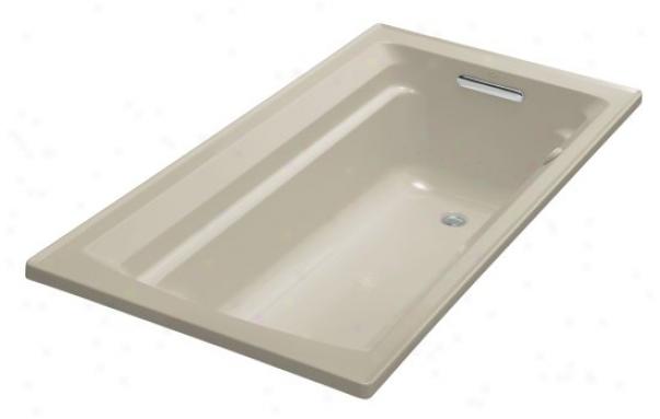 Kohler K-1122-g-g9 Archer 60 X 32 Whirlpool Bubblemassage Bath Tub Attending Comfort Deepness Design, Sand