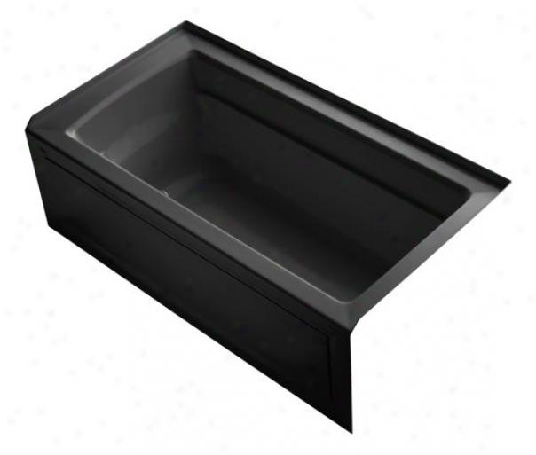 Kohler K-1122-gra-7 Archer 60 X 32 Whirlpool Bubblemassage Bath Tub With Comfort Depth Deqign, Int