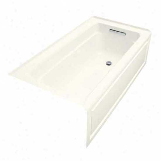 Kohler K-1122-gra-96 Archer Bubblemassage 5' Bath With Comfort Depth Design, Integral Apron Ad Righ
