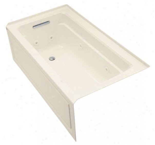 Kohlrr K-1122-hl-47 Archer 61ã¢â'¬? X 322 ã¢â'¬? Whirlpool Bath Tub With Comfort Depth Design, Left-hand