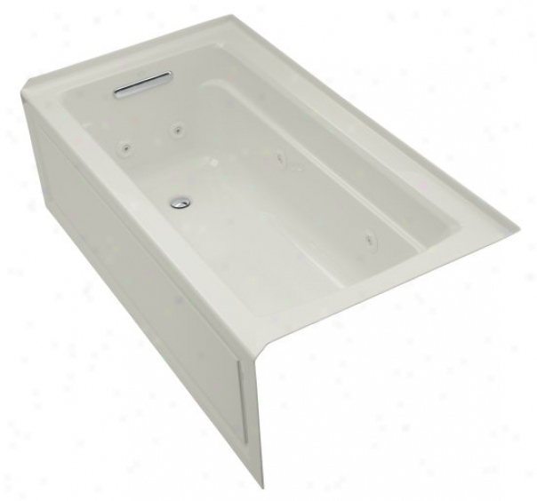 Kohler K-1122-hl-95 Archer 66ã¢â'¬? X 32ã¢â'¬? Whirlpool Bath Tub With Ease Depth Design, Left-hand