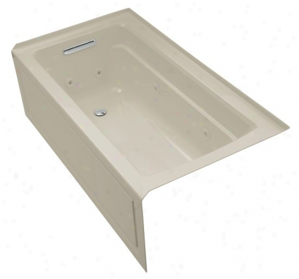 Kohler K-1122-la-g9 Archer 64ã¢â'¬? X 32ã¢â'¬? Whirlpool Bath Tub With Comfort Depth Design, Integral