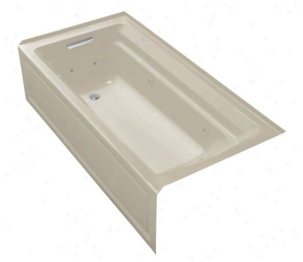 Kohler K-1124-la-g9 Archer 72ã¢â'¬? X 36ã¢â'¬? Whirlpool Bath Tub With Comfort Depth Design, Whole