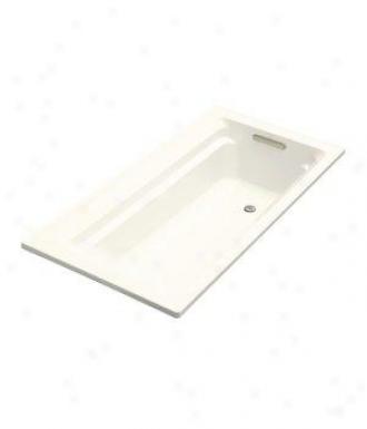 Kohler K-1125-96 Archer 6' Bath With Comfotr Depth Design, Biscuit