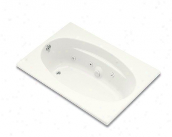 Kohler K-1126-l-0 6042 Vortex With Flange Amd Left-hand Drain, White